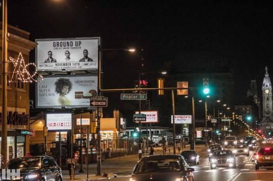 Group Up Union Transfer Billboard